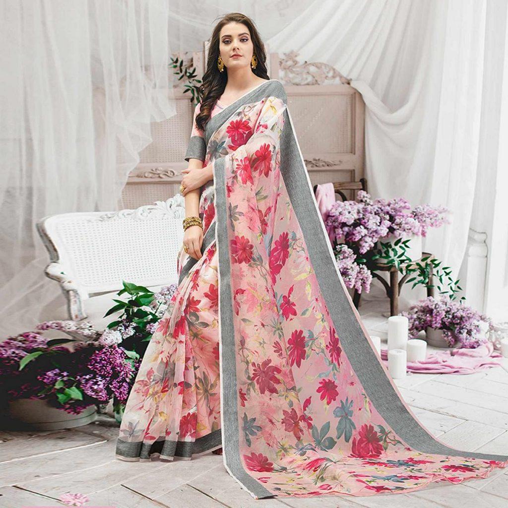 organza saree online